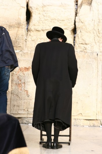 Sabbath prayers being offered at the Western Wall