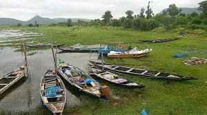 Fishing boats in Rambha