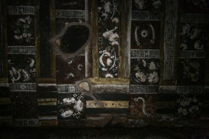The rich painted ceilings of Cave 2