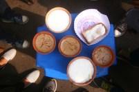 Malai toast, masala tea and lassi