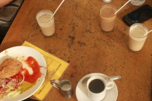 Coffee and Kabiraji at Indian Coffee House