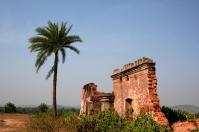 Dilapidated remains of palace walls