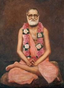 """Srila Bhaktisiddhanta Saraswati Thakur New Vrindavan 1981 24x18"""""""