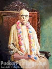 Bhaktisiddhanta sitting