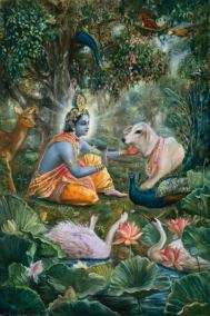 [K01] Krishna speaks with animals