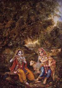 [K26]Krishna and Balaram enjoy in Vrindavan
