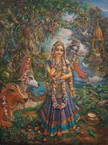 [K42] Radharani stunned by the sound of Krishna's flute