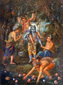 [K51] Victorious cowherd boy rides Krishna's shoulders