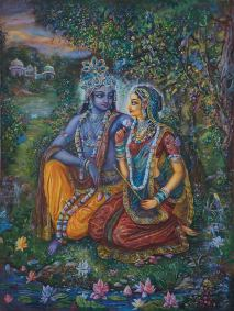 Radha Krishna in the garden