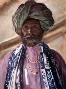Portrait Rajasthani man