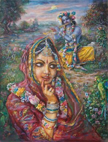 [K43] Radharani hears the flute in the moonlight