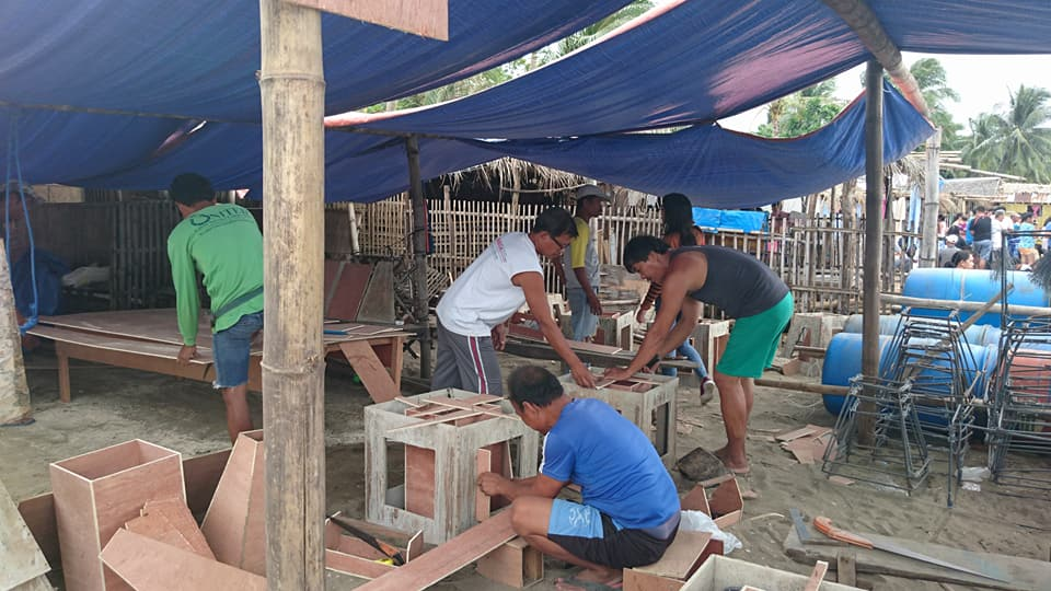 Building artificial habitats in Barangay Calayo