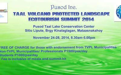 Taal Volcano Protected Landscape Ecotourism Summit 2014