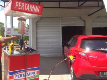 Super mini petrol station on the way! No choice! We need petrol urgently!