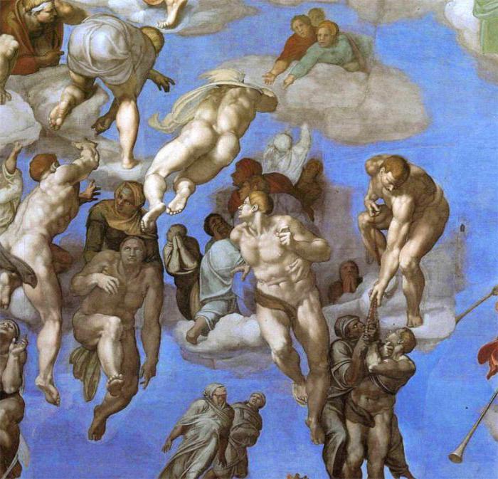 Son yargı resminde cennete yükselenler aydınlık şekilde resmedilmiştir.