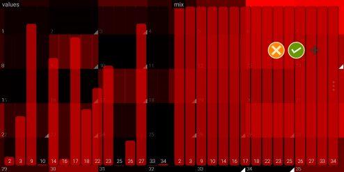 multi slider red