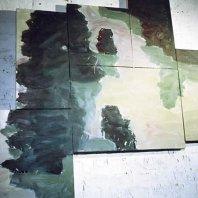 Waldlichtung (forestglade), 1992, oil on nettle-cloth, 125 x 150 cm