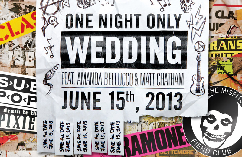 Punk Rock Wedding Invite