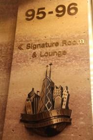 Le bar Signature Room au 96ème étage