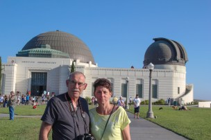 Papa-Maman devant le Griffith Observatory