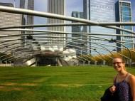 Une suisse est présente sur cette photo du jay pritzker pavilion