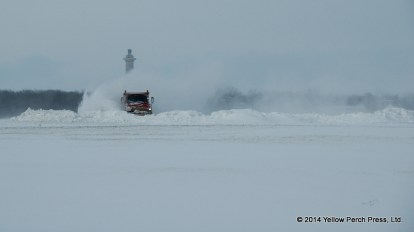 Put in Bay Airport Snow