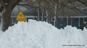 Put in Bay Snow Sign