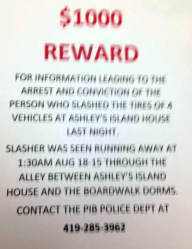PiB Police Reward Notice