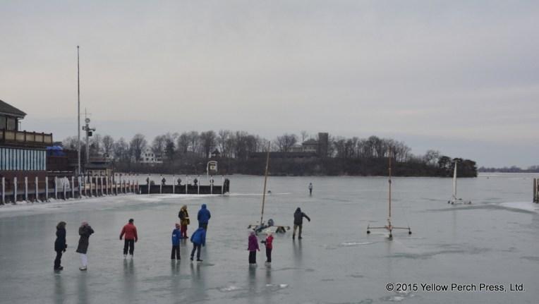 ice skating at The Boardwalk Put in Bay