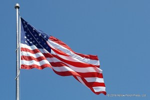 U.S. flag at Put in Bay