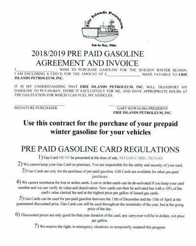 pre-paid fuel program