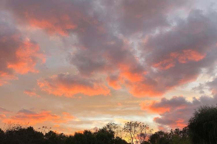 dramatic island sunset