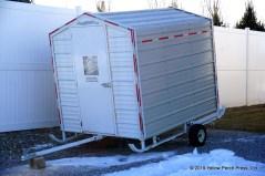 steel ice shanty