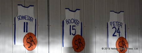 The game also honored the school's senior members of the basketball program: Max Schneider, Jack Booker, Lauren Peter.