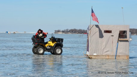 ice fishing at Put-in-Bay