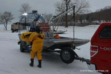Put in Bay ice boat