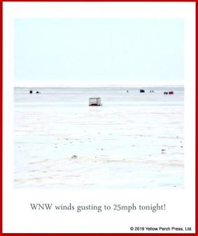 ice fishing on Lake Erie