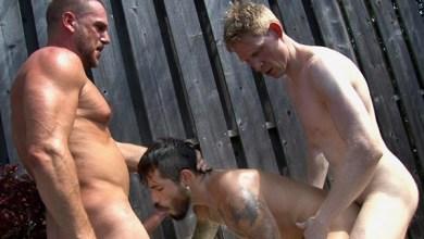 Photo of TimFuck – Meat Rack 4 – Draven Torres, Hans Berlin & Rob Yaeger – Bareback