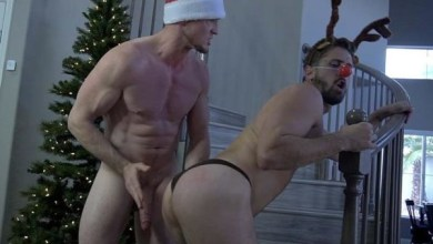 Photo of ManUpFilms – Man Up Christmas Special – Wesley Woods & Pierce Paris – Bareback