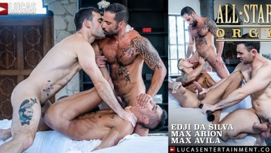 Photo of LucasEntertainment – All-Star Orgy – Max Arion & Edji Da Silva punish Max Avila – Bareback