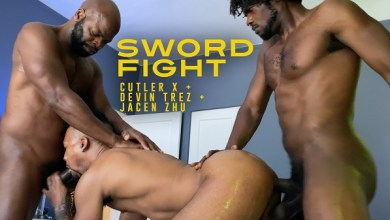 Photo of CutlersDen – Sword Fight – Cutler X, Devin Trez and Jacen Zhu