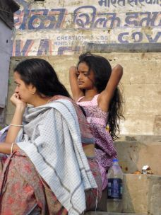 Mother and daughter, Varanasi