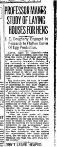 1929 Newspaper article