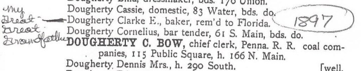 Wilkes Barre, Pennsylvania City Directory 1897