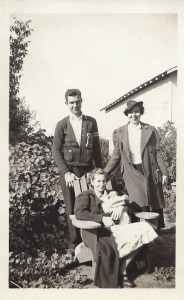 Robert , sister Dorothy, and Emily with baby Ronald