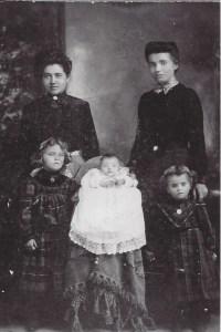 Mary Bender, Anna Schneider, Molly Bender Amelia Bender, and Lena Bender  1904