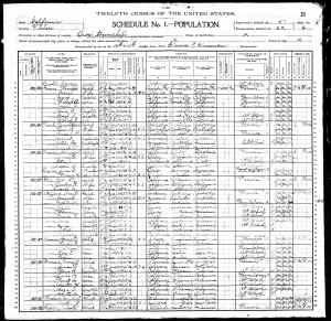 1900 US Census Orosi township, Tulare County, California