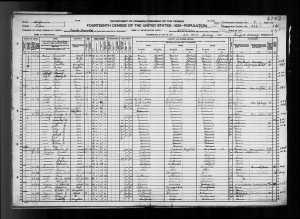 1920 US census Visalia, Tulare County, California