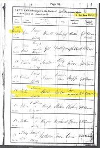 Baptismal Records Ashton under lyne Lancashire England