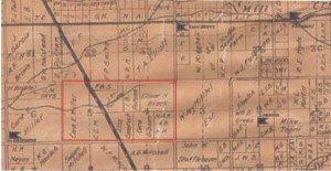 1920 (partial) Plat Map Tulare County